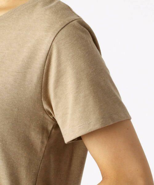 COMME CA ISM / コムサイズム Tシャツ   ロゴプリントTシャツ   詳細8
