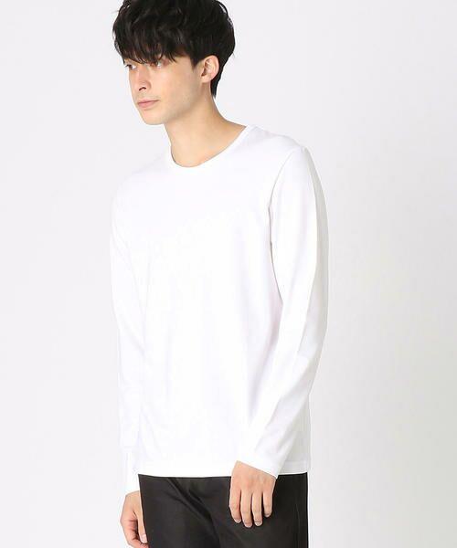 COMME CA ISM / コムサイズム Tシャツ   クルーネックTシャツ(ホワイト)