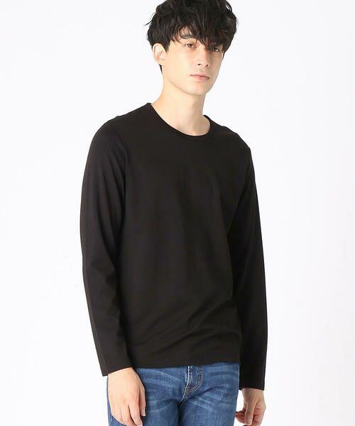 COMME CA ISM / コムサイズム Tシャツ   クルーネックTシャツ(ブラック)