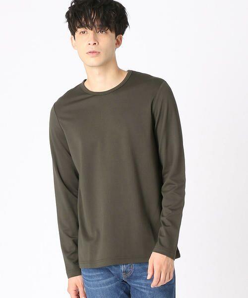COMME CA ISM / コムサイズム Tシャツ   クルーネックTシャツ(カーキ)