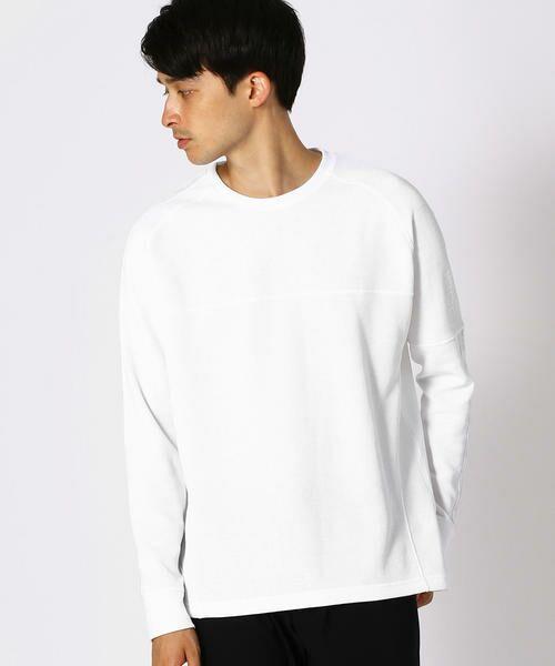 COMME CA ISM / コムサイズム Tシャツ | 【MIZUNO コラボ】ワッフル ロングTシャツ(ホワイト)