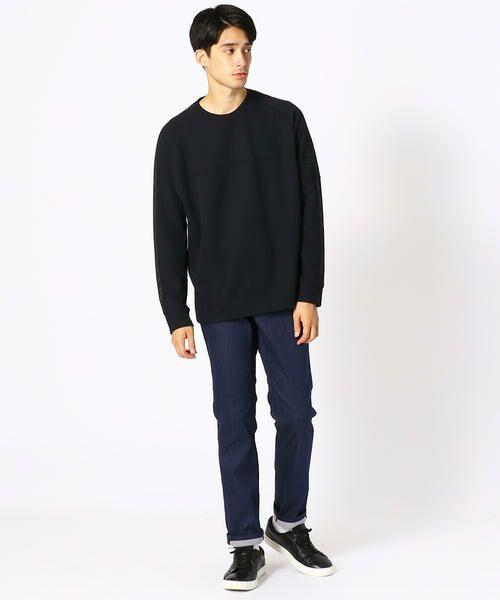 COMME CA ISM / コムサイズム Tシャツ | 【MIZUNO コラボ】ワッフル ロングTシャツ | 詳細2