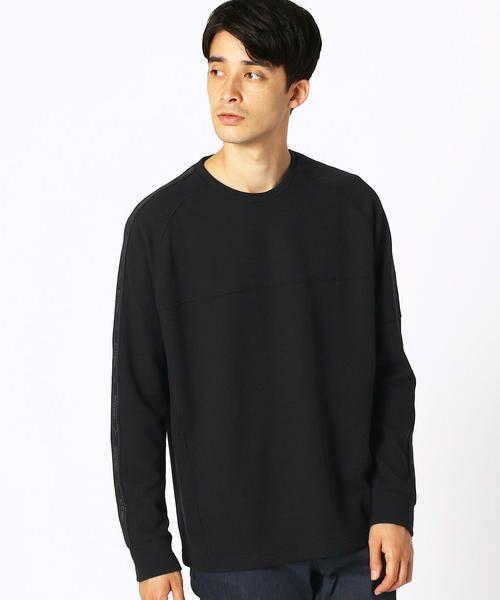 COMME CA ISM / コムサイズム Tシャツ | 【MIZUNO コラボ】ワッフル ロングTシャツ(ブラック)
