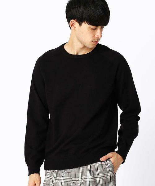 COMME CA ISM / コムサイズム ニット・セーター | クルーネック カラー プルオーバー(ブラック)