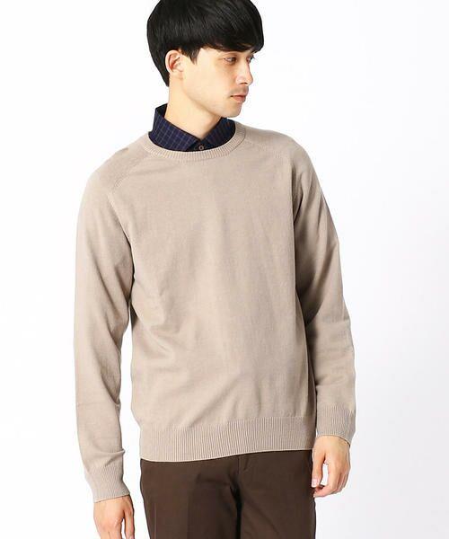 COMME CA ISM / コムサイズム ニット・セーター | クルーネック カラー プルオーバー(ベージュ)