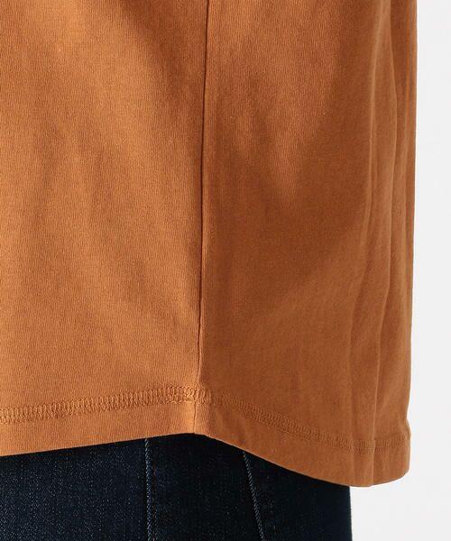 COMME CA ISM / コムサイズム Tシャツ   メッセージプリント Vネック Tシャツ   詳細9