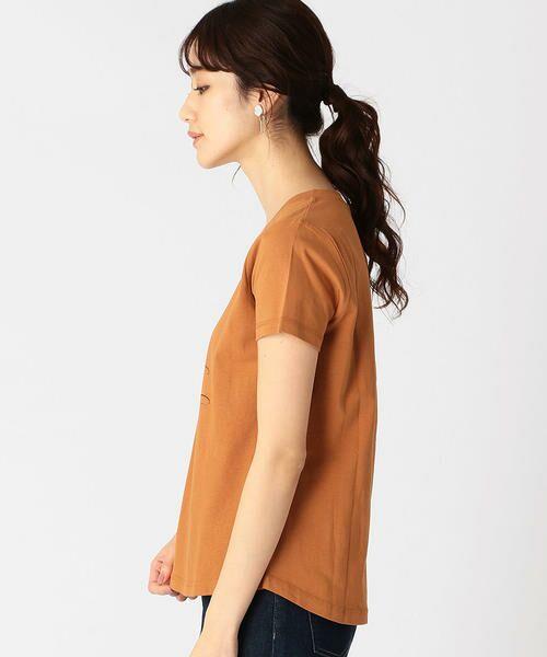 COMME CA ISM / コムサイズム Tシャツ   メッセージプリント Vネック Tシャツ   詳細5