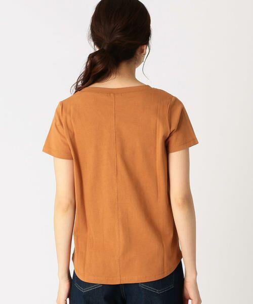 COMME CA ISM / コムサイズム Tシャツ   メッセージプリント Vネック Tシャツ   詳細6