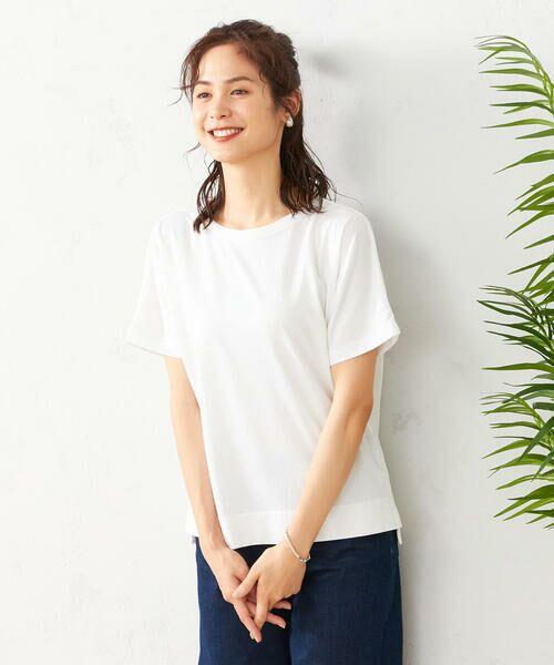 COMME CA ISM / コムサイズム Tシャツ | フレンチスリーブ Tシャツ(ホワイト)