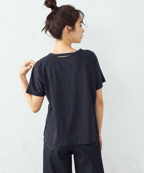 COMME CA ISM / コムサイズム Tシャツ | フレンチスリーブ Tシャツ(ネイビー)