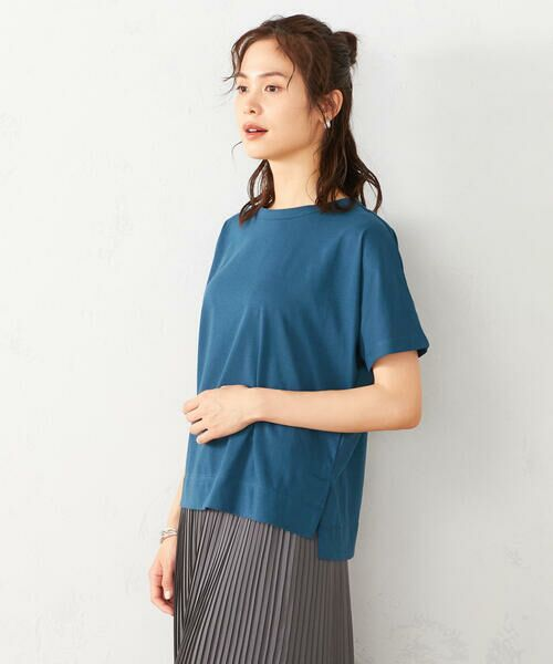 COMME CA ISM / コムサイズム Tシャツ | フレンチスリーブ Tシャツ(ターコイズ)