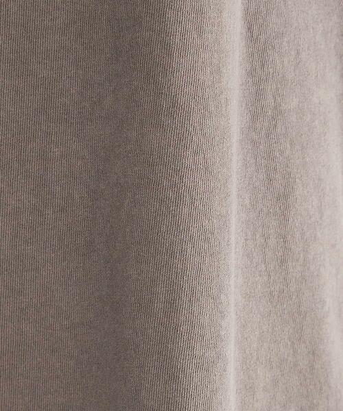 COMME CA ISM / コムサイズム カットソー   異素材切り替え メッセージプリント ワイドTシャツ   詳細12