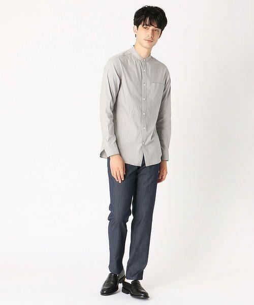 COMME CA ISM / コムサイズム シャツ・ブラウス | バンドカラーシャツ | 詳細1