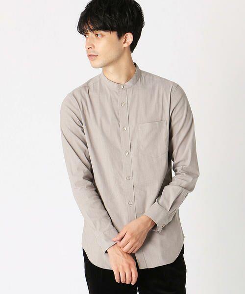 COMME CA ISM / コムサイズム シャツ・ブラウス | バンドカラーシャツ(ベージュ)