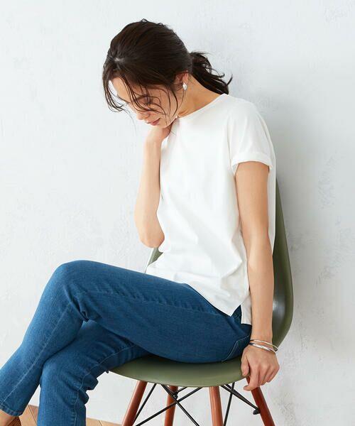 COMME CA ISM / コムサイズム カットソー | 〈吸水速乾〉 ベーシックTシャツ(ホワイト)