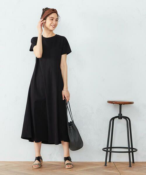 COMME CA ISM / コムサイズム ロング・マキシ丈ワンピース | 《コットン》 Tシャツワンピース | 詳細1