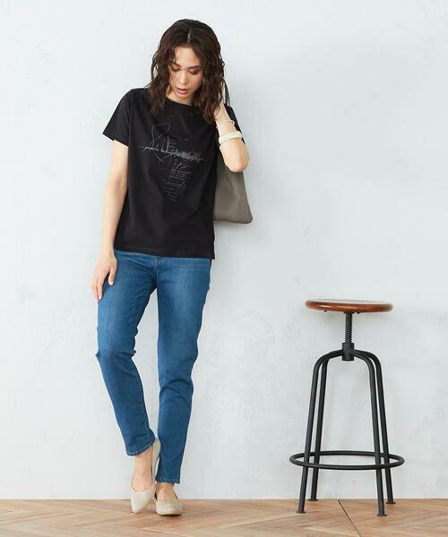 COMME CA ISM / コムサイズム Tシャツ | 《コットン》 クルーネック プリントTシャツ | 詳細3
