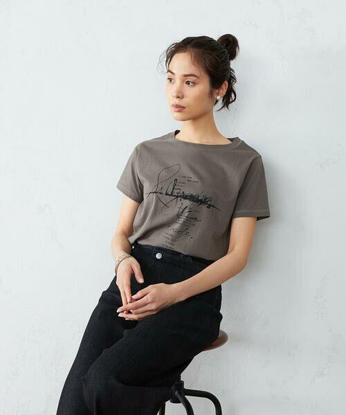 COMME CA ISM / コムサイズム Tシャツ | 《コットン》 クルーネック プリントTシャツ | 詳細5