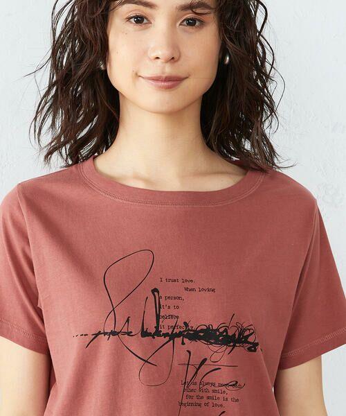 COMME CA ISM / コムサイズム Tシャツ | 《コットン》 クルーネック プリントTシャツ | 詳細10
