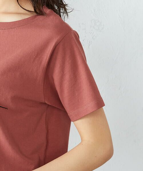 COMME CA ISM / コムサイズム Tシャツ | 《コットン》 クルーネック プリントTシャツ | 詳細12