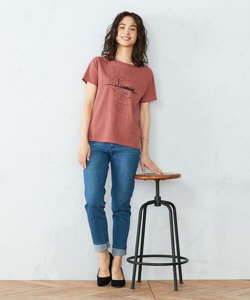 COMME CA ISM / コムサイズム Tシャツ | 《コットン》 クルーネック プリントTシャツ | 詳細6