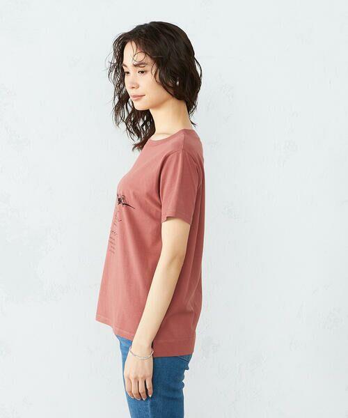 COMME CA ISM / コムサイズム Tシャツ | 《コットン》 クルーネック プリントTシャツ | 詳細8