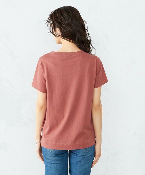 COMME CA ISM / コムサイズム Tシャツ | 《コットン》 クルーネック プリントTシャツ | 詳細9