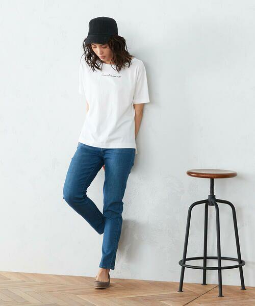 COMME CA ISM / コムサイズム Tシャツ | 《コットン》 ドルマンスリーブ ロゴプリント Tシャツ | 詳細1