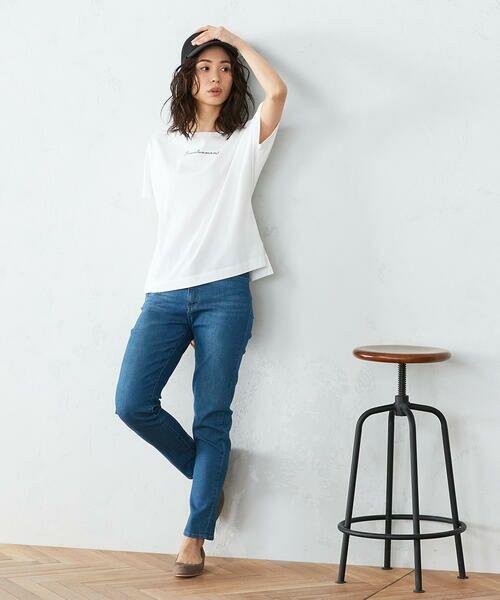 COMME CA ISM / コムサイズム Tシャツ | 《コットン》 ドルマンスリーブ ロゴプリント Tシャツ | 詳細2