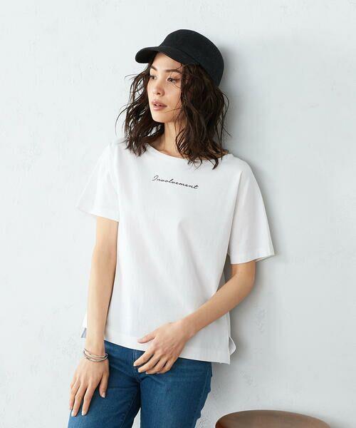 COMME CA ISM / コムサイズム Tシャツ | 《コットン》 ドルマンスリーブ ロゴプリント Tシャツ | 詳細3