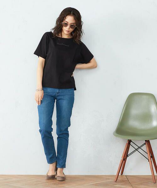 COMME CA ISM / コムサイズム Tシャツ | 《コットン》 ドルマンスリーブ ロゴプリント Tシャツ | 詳細4