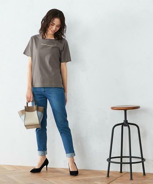 COMME CA ISM / コムサイズム Tシャツ | 《コットン》 ドルマンスリーブ ロゴプリント Tシャツ | 詳細5