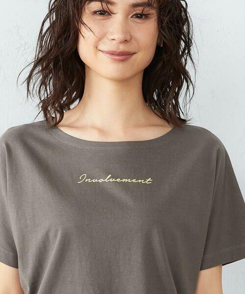 COMME CA ISM / コムサイズム Tシャツ | 《コットン》 ドルマンスリーブ ロゴプリント Tシャツ | 詳細9