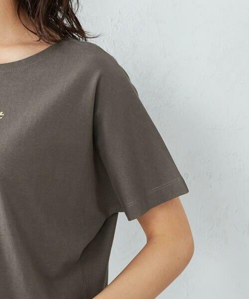 COMME CA ISM / コムサイズム Tシャツ | 《コットン》 ドルマンスリーブ ロゴプリント Tシャツ | 詳細11