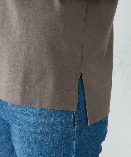 COMME CA ISM / コムサイズム Tシャツ | 《コットン》 ドルマンスリーブ ロゴプリント Tシャツ | 詳細12