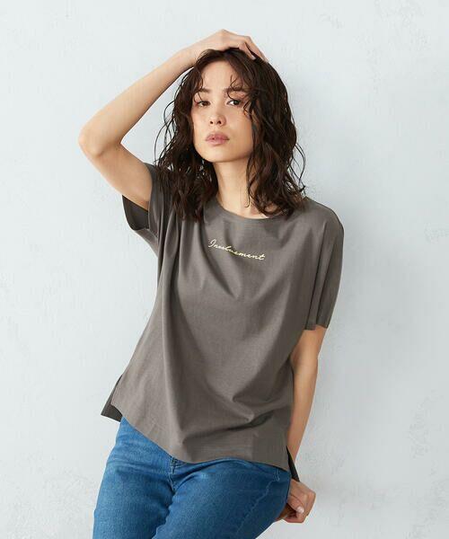 COMME CA ISM / コムサイズム Tシャツ | 《コットン》 ドルマンスリーブ ロゴプリント Tシャツ | 詳細6