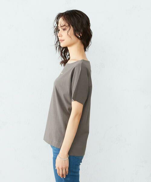 COMME CA ISM / コムサイズム Tシャツ | 《コットン》 ドルマンスリーブ ロゴプリント Tシャツ | 詳細7