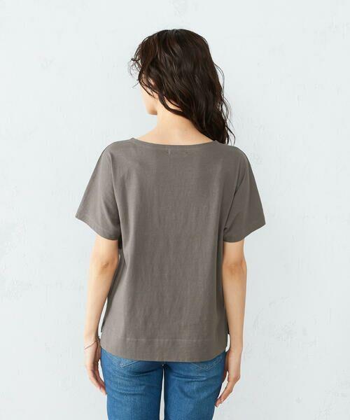 COMME CA ISM / コムサイズム Tシャツ | 《コットン》 ドルマンスリーブ ロゴプリント Tシャツ | 詳細8