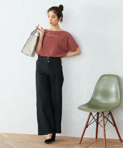 COMME CA ISM / コムサイズム Tシャツ | 《コットン》 ドルマンスリーブ ロゴプリント Tシャツ | 詳細14