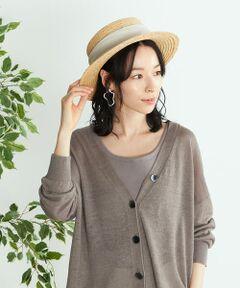 ◆ ONIGIRI(おにぎり)の リボン カンカン帽 ◆<br><br>《素材、デザイン》<br>ラフィアの天然素材を使用した、カンカン帽。<br>内側で調節できるアジャスター付きです。<br>太めのリボンを入れて、女性らしい雰囲気を加えました。<br>また天然のラフィア素材により、スタイリングに季節感をプラス。<br>ベージュはカジュアルな印象。<br>ブラウンは、リボンの甘さを緩和し、コーディネートのスパイスになる2色展開です。