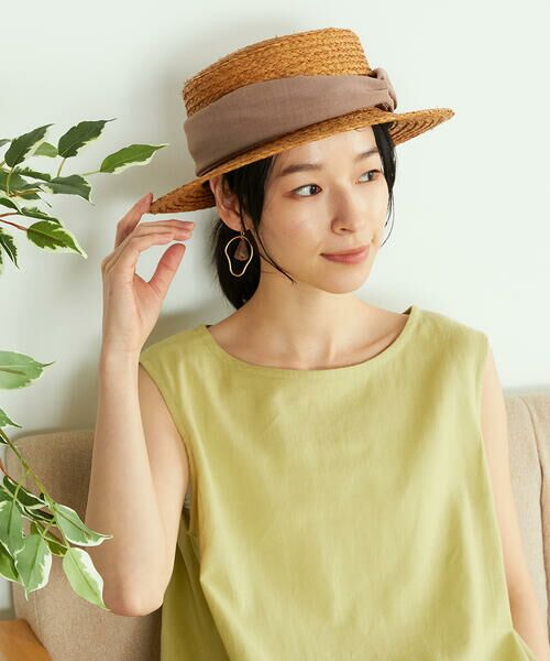 COMME CA ISM / コムサイズム ハット   【一部店舗限定】 リボン カンカン帽   詳細3
