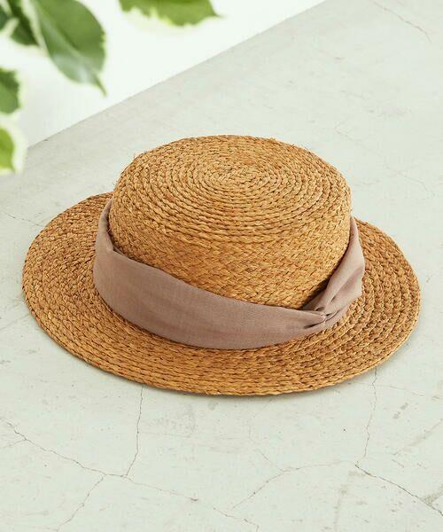 COMME CA ISM / コムサイズム ハット   【一部店舗限定】 リボン カンカン帽   詳細4