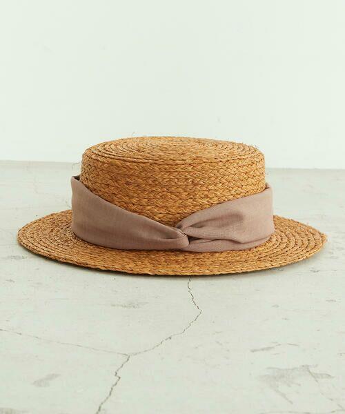 COMME CA ISM / コムサイズム ハット   【一部店舗限定】 リボン カンカン帽   詳細6