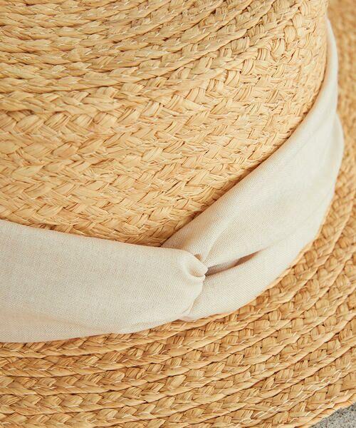 COMME CA ISM / コムサイズム ハット   【一部店舗限定】 リボン カンカン帽   詳細15