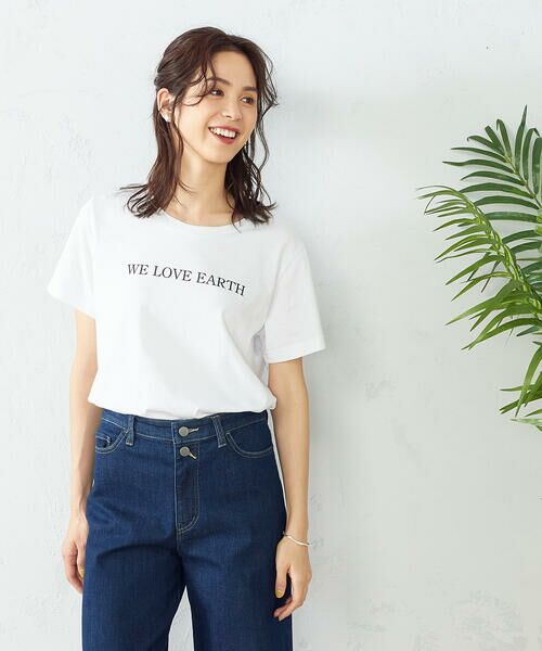 COMME CA ISM / コムサイズム Tシャツ | プリントTシャツ(ホワイト)