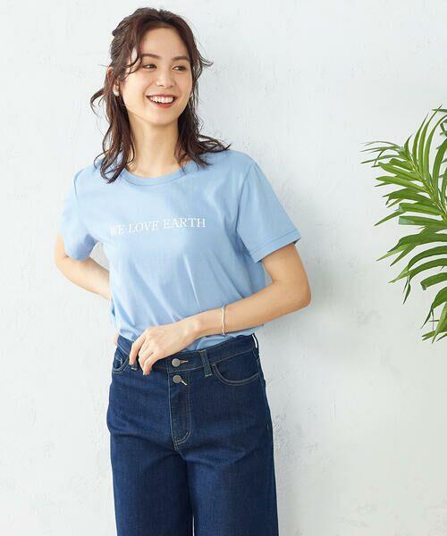 COMME CA ISM / コムサイズム Tシャツ | プリントTシャツ(サックス)