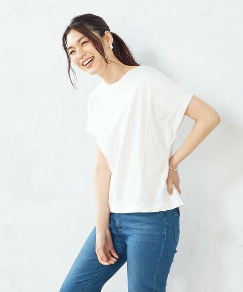 COMME CA ISM / コムサイズム Tシャツ | フレンチスリーブ Tシャツ | 詳細1