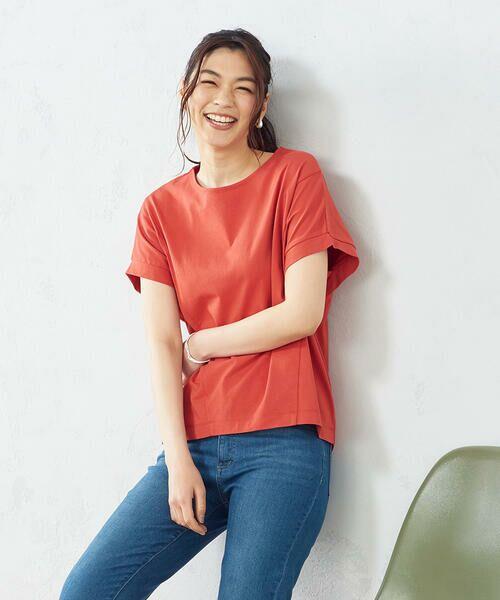COMME CA ISM / コムサイズム Tシャツ | フレンチスリーブ Tシャツ(オレンジ)