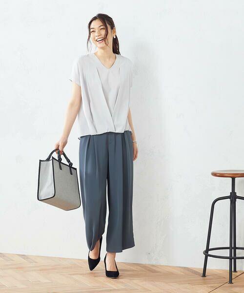 COMME CA ISM / コムサイズム シャツ・ブラウス   タック 半袖ブラウス   詳細2
