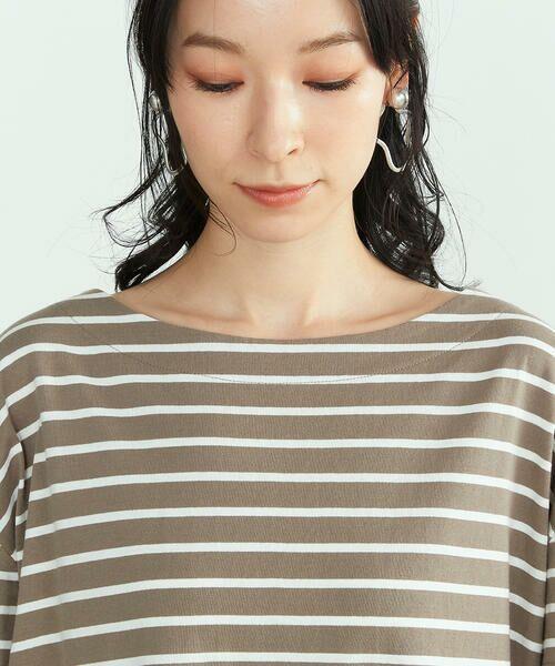 COMME CA ISM / コムサイズム Tシャツ | 〈オーガニックコットン〉バックスリットボーダー半袖Tシャツ | 詳細13